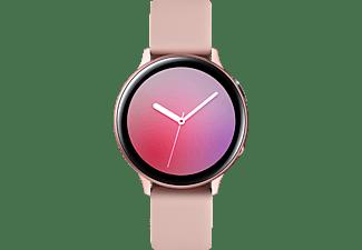 SAMSUNG Galaxy Watch Active2 Aluminium 44mm PG Smartwatch Aluminium Fluorkautschuk, M/L, Pink Gold