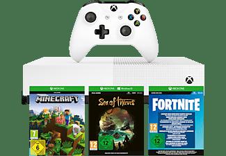 MICROSOFT Xbox One S 1TB All Digital Edition weiß (Konsole ohne optisches Laufwerk) + 3 Spiele