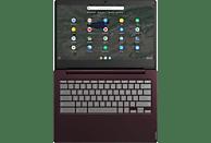 LENOVO Chromebook S340, Chromebook mit 14 Zoll Display, Celeron Prozessor, 4 GB RAM, 64 GB eMMC, Intel UHD Grafik 600, Dunkelrot