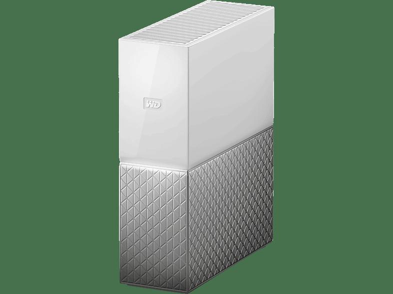 WD My Cloud Home Cloudspeicher 4 TB NAS 3,5 Zoll Anzahl Festplattenschächte 1 Weiss Silber}