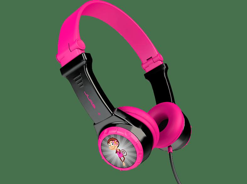 JLAB JBuddies Folding, On-ear Kopfhörer  Pink