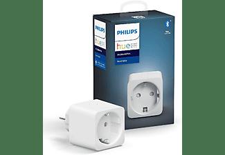 Enchufe inteligente - Philips Hue Smart Plug, Compatible con Alexa y Google Home, Blanco