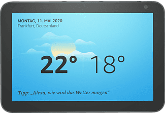 AMAZON Echo Show 8 Smart Display mit 8 Zoll großem HD-Bildschirm Smart Speaker, Anthrazit Stoff