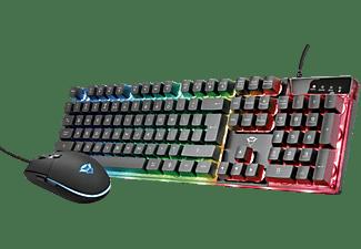 TRUST 23289 GXT 838 Azor Gaming Combo, Gaming-Tastatur und -Maus, Rubberdome, Sonstiges