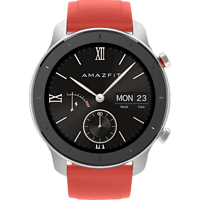 AMAZFIT GTR 42.6 mm Smartwatch Aluminium Silikon, 118 mm + 75 mm, Coral Red