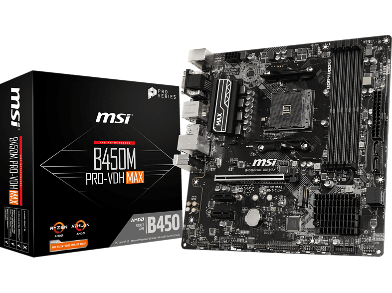 MSI B450M Pro-VDH Max Mainboard Schwarz