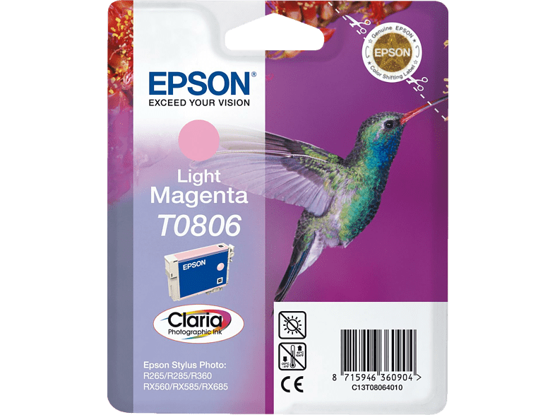 EPSON Original Tintenpatrone Kolibri Light Magenta (C13T08064010)