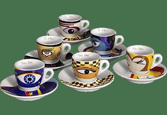 ZELLER 26510 Eyes Espresso-Set Weiß
