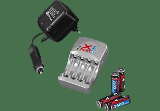 ANSMANN Xpert 800 + 4 Mignon AA Akku Ladegerät, 7.8V / 4 Zellen, 3.9V / 2 Zellen Volt, 2700 mAh Micro AAA: 300mA (2/4), Mignon AA: 800mA (2/4), Grau
