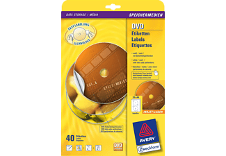 AVERY ZWECKFORM Full Face DVD Labels, 117 mm round, 40 pezzi - -