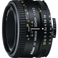 NIKON AF NIKKOR 50mm 1:1,8D 50 mm f/1.8  (Objektiv für Nikon F-Mount, Schwarz)