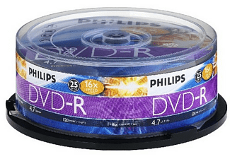 Bobina DVD-R - Philips DVD-R DM4S6B25F/00, 25 unidades, 4.7GB